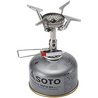 ソト(SOTO) アミカス コンパクトストーブ SOD-320 キャンプストーブ OD缶用 シングルバーナー キャンプ ガス バーナー 火力が強い ソロキャンプ ツーリング BBQ 登山アウトドア 収納ケース付き 折り畳み式 防風