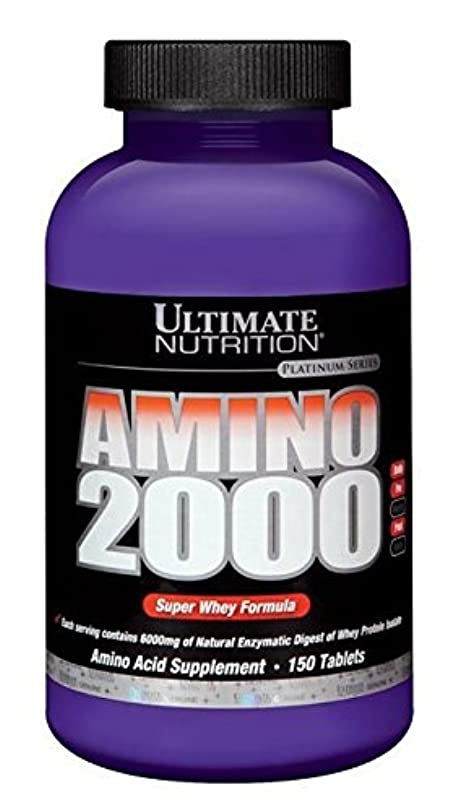 かんがい反響する近代化するアミノ2000 ホエイプロテイン 150 タブレット 乳清由来 アルティメットニュートリション社製