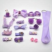 MJPA 18 Pcs/Box New Kids Children Accessories Hairpins Barrettes Baby Fabric Bow Flower Headwear Hair Clips Girls Headdress (Color : Dark Grey)