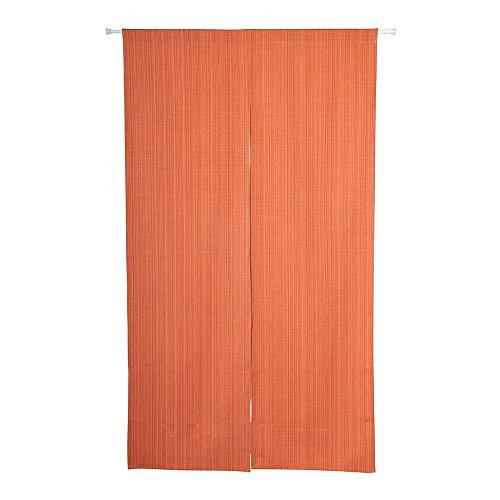 Shinnwa(シンワ)のれん ポリエステル 7色選べる 無地 和風暖簾 幅85cm×丈150cm ロングカーテン オレンジ