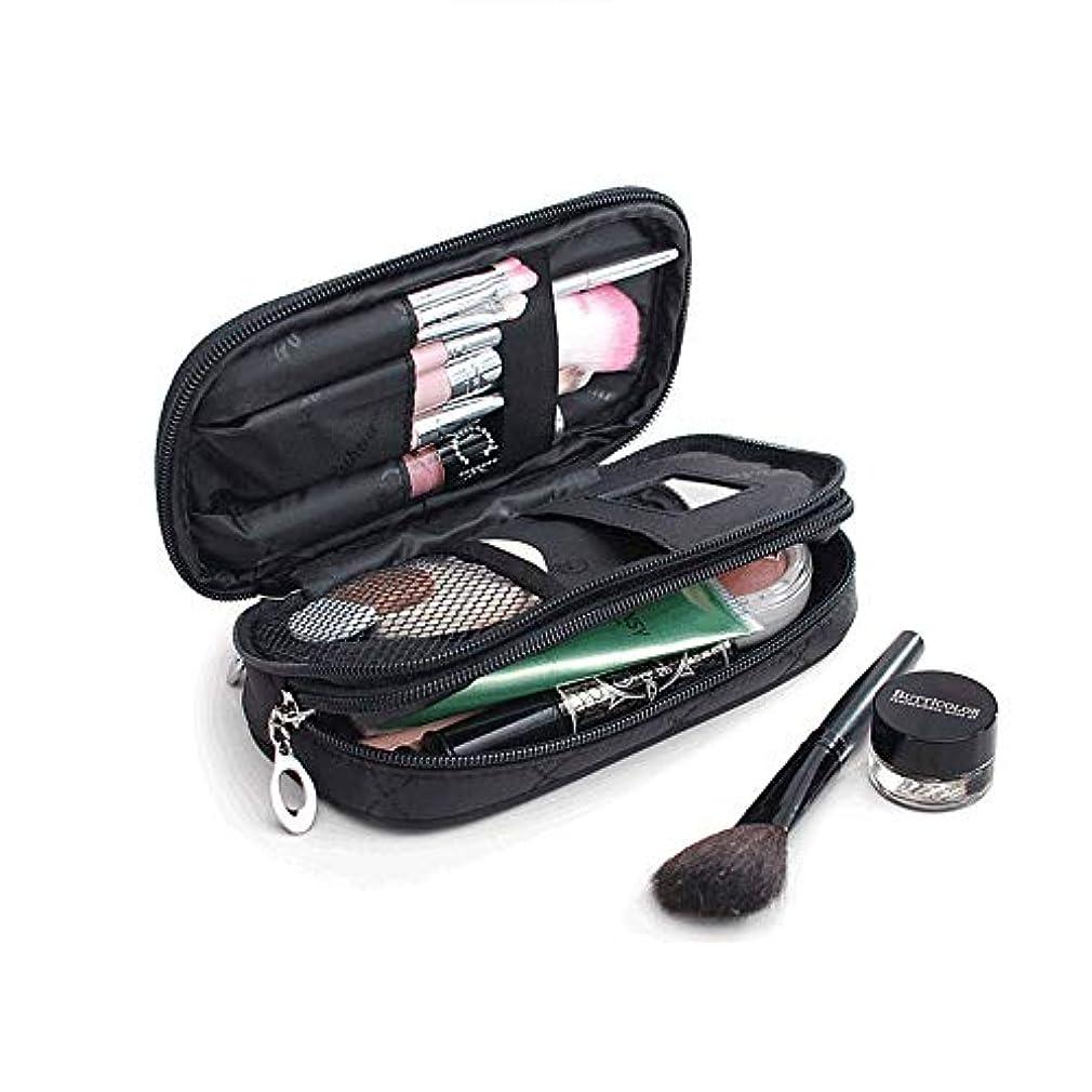 ブロック鯨冷酷なサントレード 化粧ポーチ 鏡付き メイクアップバッグ 化粧バッグ 小物入れ 収納 オーガナイザー