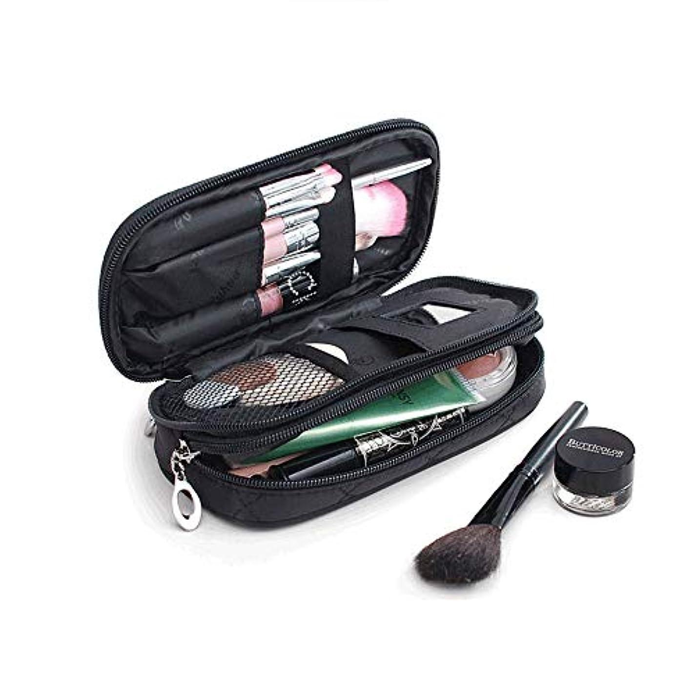 多様体取るに足らないサイレントサントレード 化粧ポーチ 鏡付き メイクアップバッグ 化粧バッグ 小物入れ 収納 オーガナイザー