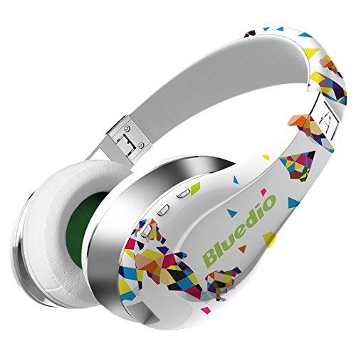 Bluedio A Air Series Bluetooth ヘッドホン ワイヤレスヘッドセット イヤホン(白)
