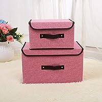 収納ボックスキューブコンテナ収納ボックス化粧品不織布生地カバー折り畳み仕上げボックス6(色:ピンク)