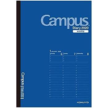 コクヨ キャンパスダイアリー 手帳 2020年 A5 ウィークリー コバルトブルー ニ-CWVCB-A5-20 2020年 1月始まり