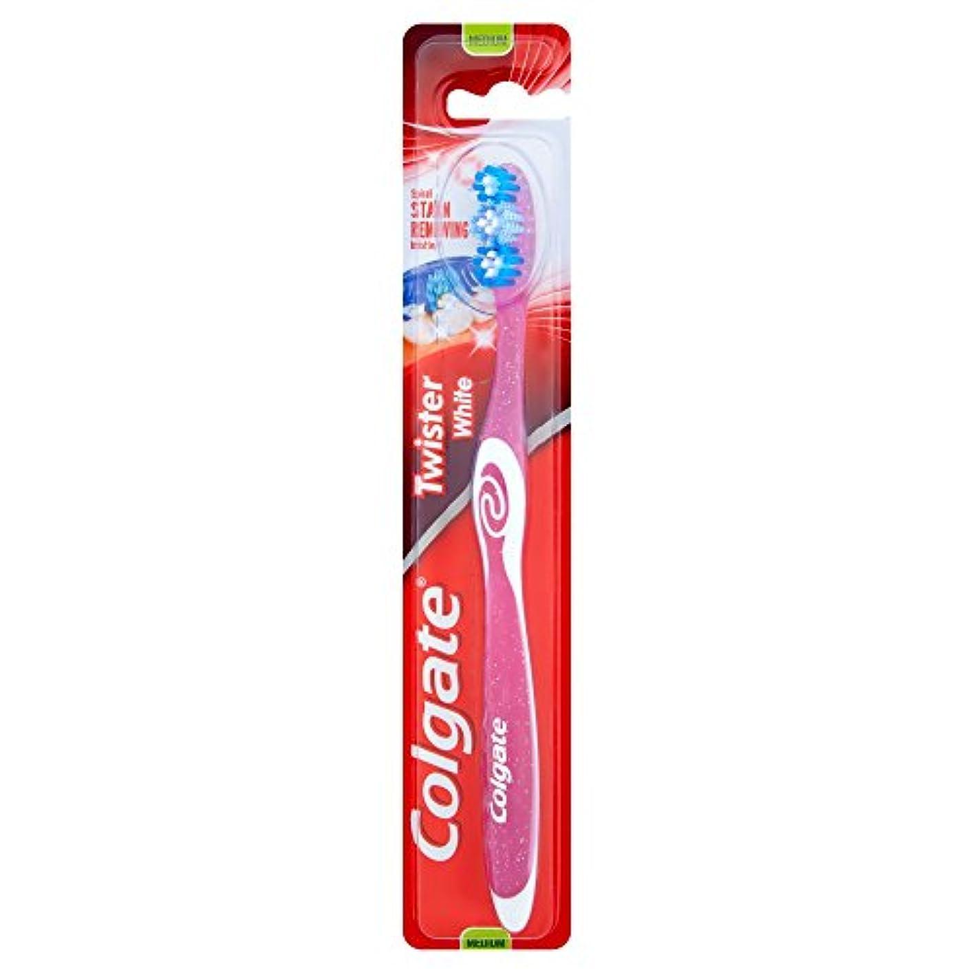 豆真面目な減る[Colgate ] コルゲートツイスター白い手用歯ブラシ - Colgate Twister White Manual Toothbrush [並行輸入品]