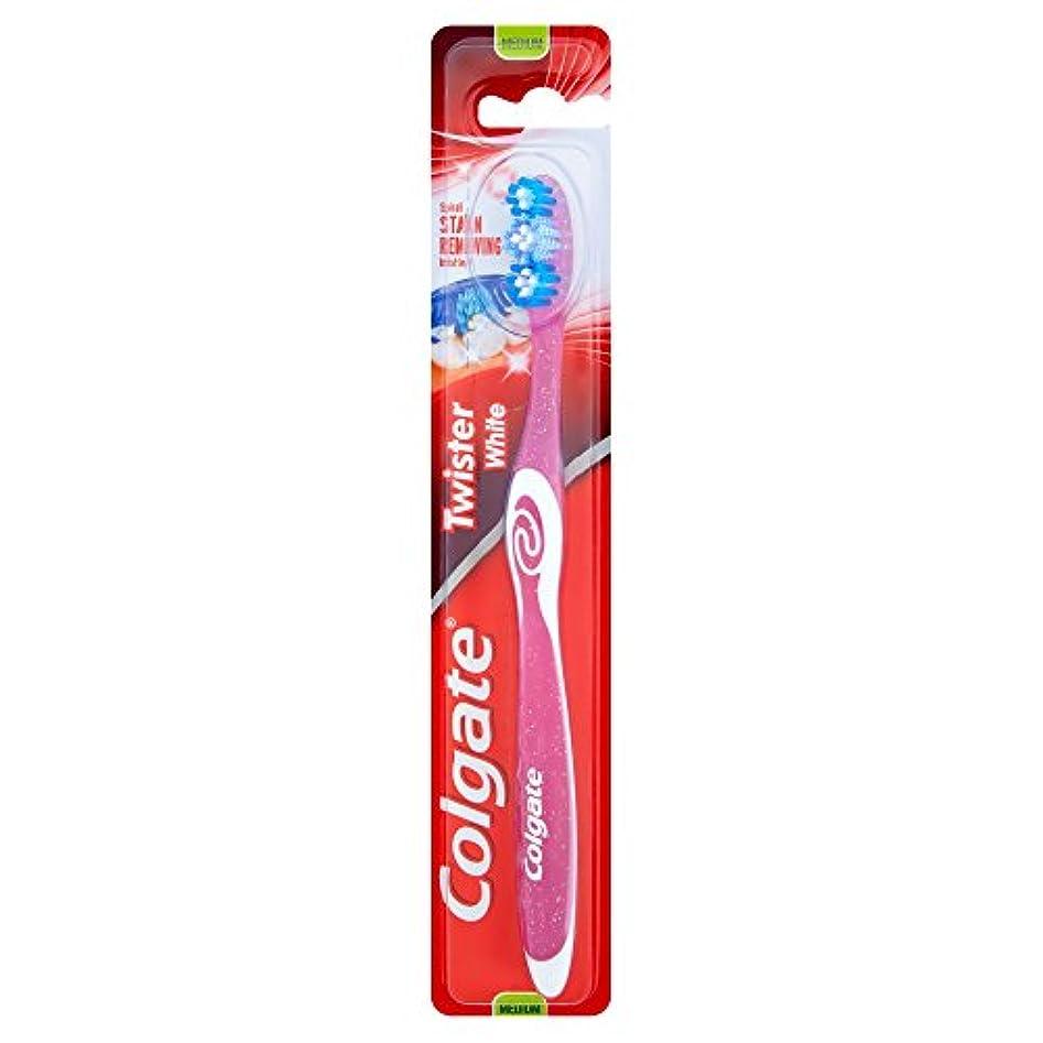 人類宣教師スリット[Colgate ] コルゲートツイスター白い手用歯ブラシ - Colgate Twister White Manual Toothbrush [並行輸入品]