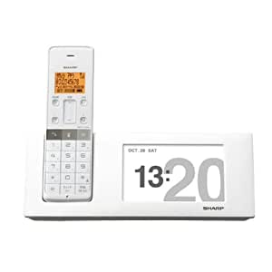 シャープ デジタルコードレス電話機 親機のみ 1.9GHz DECT準拠方式 ホワイト系 JD-4C2CL-W