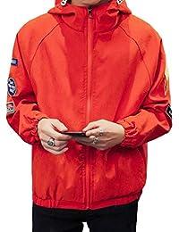 maweisong メンズスリムフィットジップアップロングスリーブ格子縞プラスサイズボンバージャケット