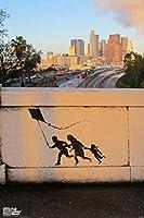 Pyramid America Kite Family Banksy 12x18 inches 322175
