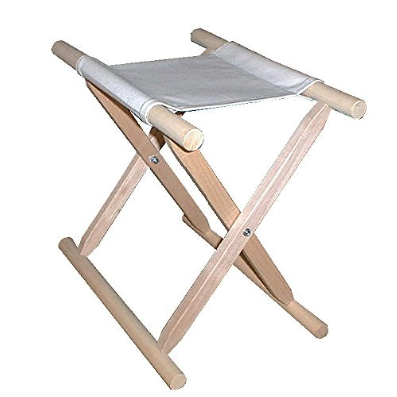 胡床のトップメーカー鈴木木工所製の胡床白木白布5脚セット