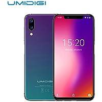 UMIDIGI One Pro 5.9インチ Android8.1 SIMフリースマホ 4G RAM4GB+ROM32GB MTK Helio P23 オクタコア 2.0GHz フェイスID&サイド指紋識別 グローバル版 オクタブコアスマートフォン デュアルSIM + デュアルバックカメラ 国内用充電器つき(au不可) クラインオーロラ