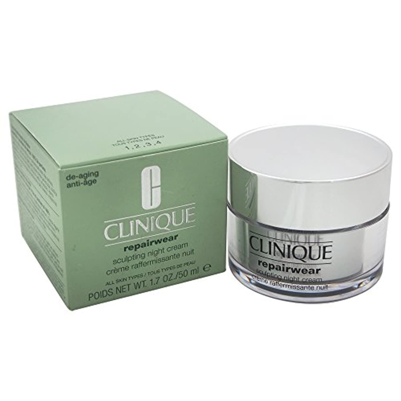 ブロック青松Clinique Repairwear Uplifting Sculpting Night Cream 50ml [並行輸入品]