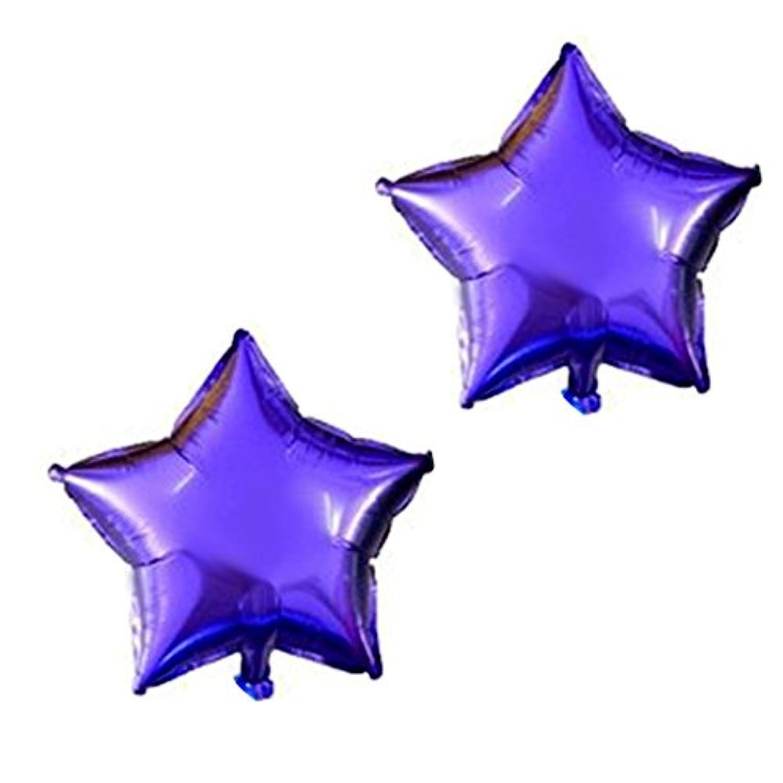 uxcell バルーン ホイル 星の形 風船 誕生日 記念日 パーティーの装飾 パープル 25.4cm 2個入り