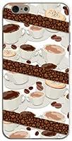 アイフォンSE iPhone SE TPU ソフトケース コーヒーとコーヒー豆 Y!mobile ワイモバイル スマホカバー デザインケース