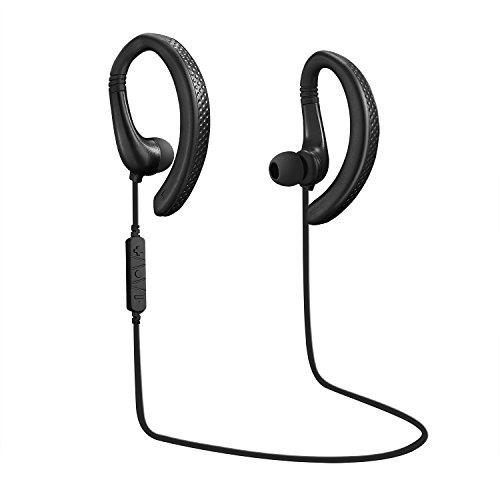 GIMart Bluetooth イヤホン 高音質 防汗防滴 スポーツ仕様 ヘッドセット ワイヤレススポッツイヤホン ランニング用スポーツイヤホン iPhone Sony Android スマートフォンなど対応 (Q1 耳掛け式)