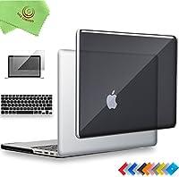 "ueswill 3in1光沢クリスタルクリアSee Throughハードシェルケースとシリコンキーボードカバーfor MacBook Retina +マイクロファイバークリーニングクロス MacBook Pro 13"" with Retina Display ブラック UES05C13R3-01"
