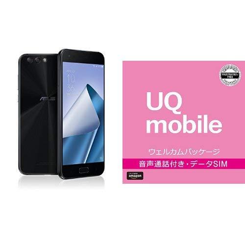 ASUS ZenFone4 SIMフリー スマートフォン (ブラック/5.5インチ)日本正規代理店品(オクタコアCPU/6GB/64GB/3300mAh)ZE554KL-BK64S6/A ZE554KL-BK64S6/A  BIGLOBE UQモバイル エントリーパッケージセット