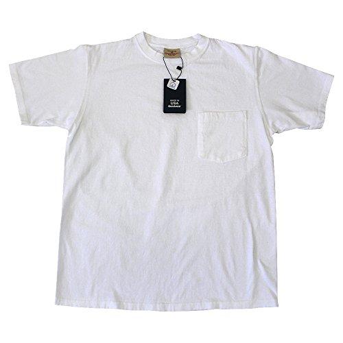 GOOD WEAR グッドウェア 7.2oz HEAVY WEIGHT POCKET TEE ヘビーウェイト ポケット付 半袖 Tシャツ MADE IN USA M、ホワイト