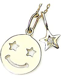 J-Jewelry ゴールド?星の目?Wスター?ダイヤモンド?ニコニコ顔?ネックレス?幸せの予感?星に願いを込めて