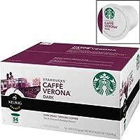 お買い得(54パック入り)K-Cup 用 ヴェローナ ダークロースト コーヒー(54 pks) Starbucks Caffe Verona, Dark, 54-Count 並行輸入品