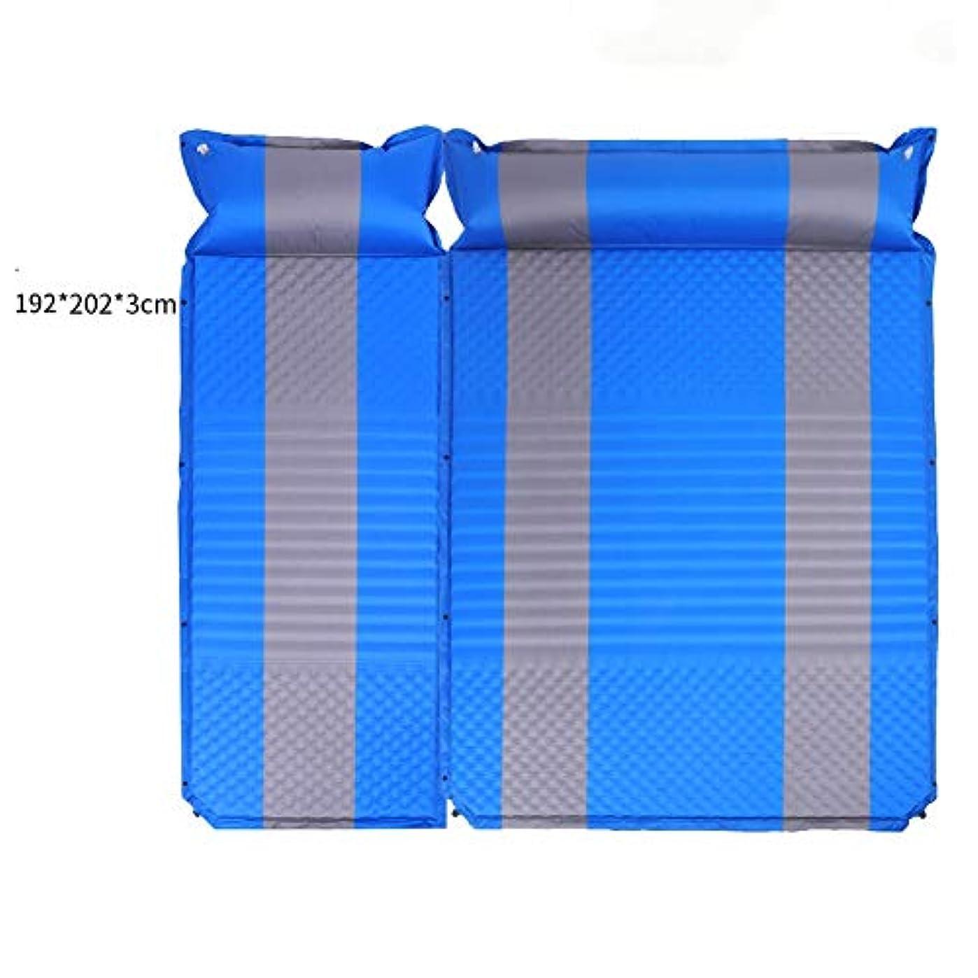 スキャン商標視力キャンプマットマット?パッド キャンプテントマットカーペット自動インフレータブルクッション防湿パッド接合可能ポータブル防水用旅行キャンプハイキング2色 (Color : E)