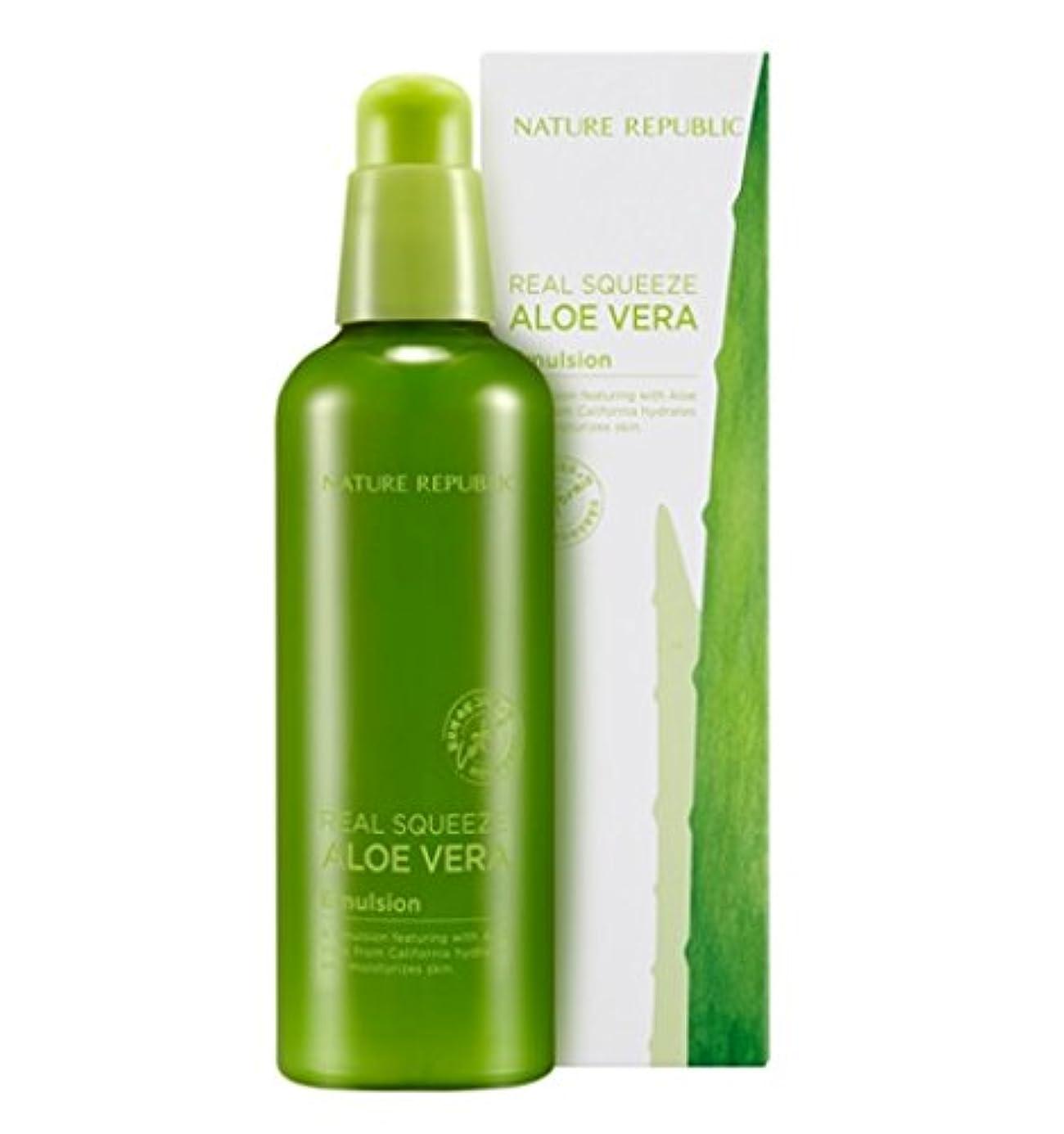 横に隣接する超えて[Nature Republic]ネイチャーリパブリック[Real Squeeze Aloe Vera Emulsion](リアルスクィーズアロエベラエマルジョン) [並行輸入品]