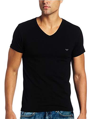 エンポリオアルマーニ EMPORIO ARMANI メンズ 半袖 Tシャツ Vネック ストレッチ コットン 110810-CC718 並行輸入品