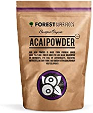 Forest Super Foods Certified Organic Acai Powder Freeze Dried 200g (60 day supply)