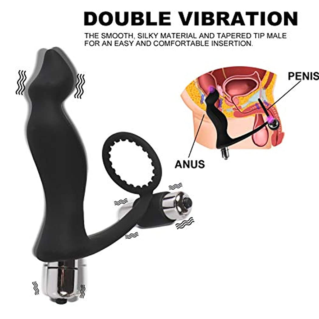 同様の咽頭認めるJHKJDF メンズエクササイズ遅延時間振動バックドアマッサージャーは、ストレス緩和ボディ大人の男性製品快適な大人のおもちゃを和らげます