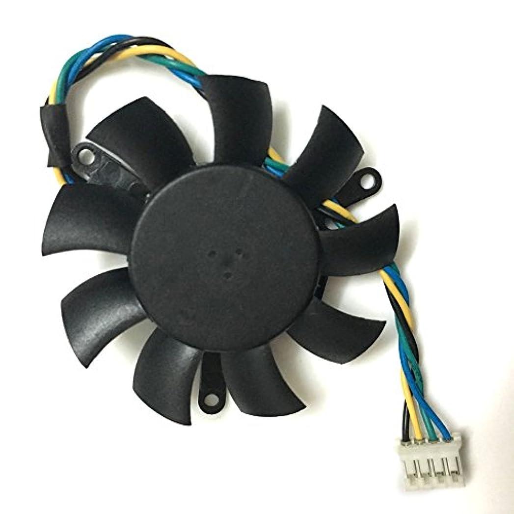 土砂降り認識クラウドYPTECH MGT5012XR-W10 グラフィックカードファン 冷却 ZOTAC 9500GT Leadtek Quadro K620用 ビデオカードクーラー