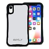 WAYLLY(ウェイリー) iPhone XR ケース アイフォンXRケース くっつくケース 着せ替え 耐衝撃 Qi対応 米軍MIL規格 [スモールロゴ ホワイト] MK