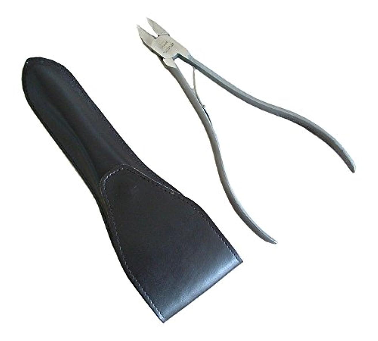 レギュラーいくつかのかなりのタナカマイスター ロングニッパー型爪切り(レザーケース入り)