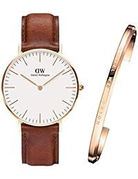【国内正規品】ダニエルウェリントン Daniel Wellington 腕時計 St Mawes セントモーズ/ローズ 36mm バングル(ローズ/スモールサイズ・レディース) セットモデル DW00100035 DW00400003