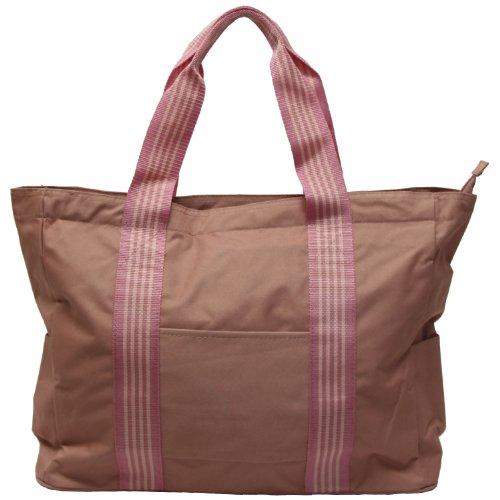 ストライプテープトートバッグ (A3サイズ対応) ピンク 3W57