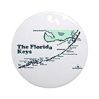 CafePress–Florida Keys–マップデザイン。オーナメントラウンド–ラウンドHolidayクリスマスオーナメント