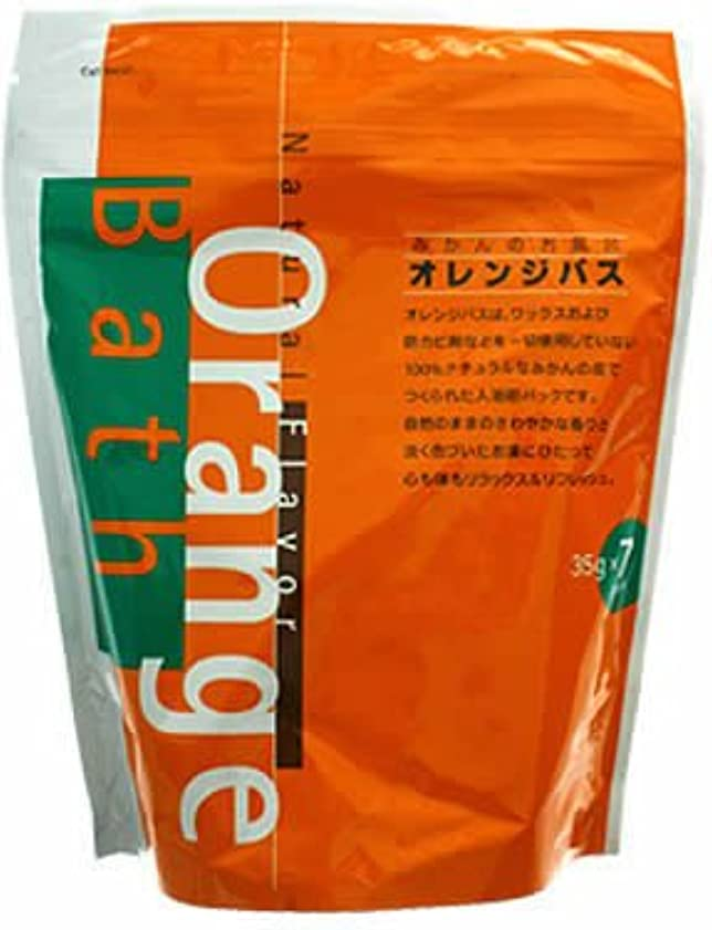 トランクライブラリピザ備品オレンジバス みかんのお風呂 35g*7パック