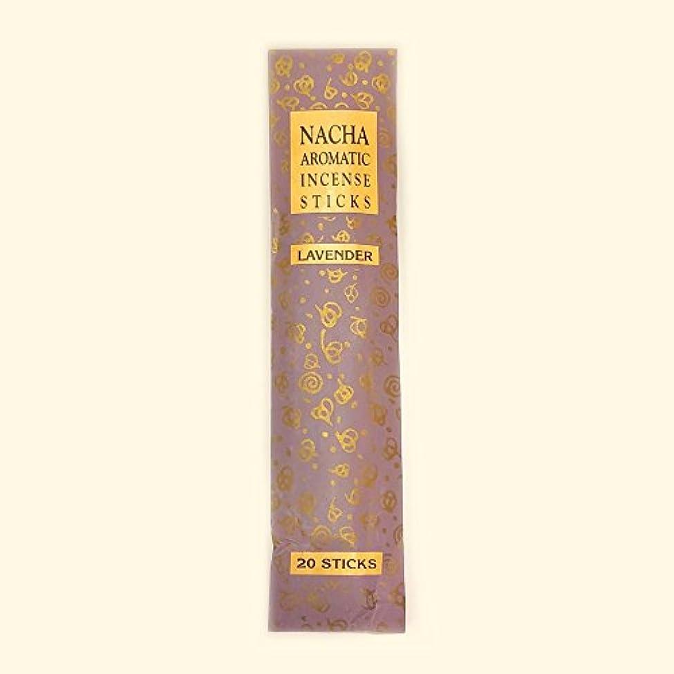 自分あいさつ特異な【NACHA】NACHA NATURALS インセンス ラベンダー