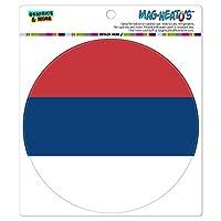 セルビア国立国旗 - サークル MAG-格好いい'S(TM)カー/冷蔵庫マグネット