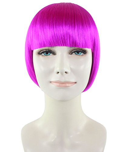 Wigs2you ピンク 桃色 ボブ ショート仮装ウィッグ H-3299 フルウィッグ コスプレ 最高級 ナチュラル かつら 女装 サラつや 双子コーデ