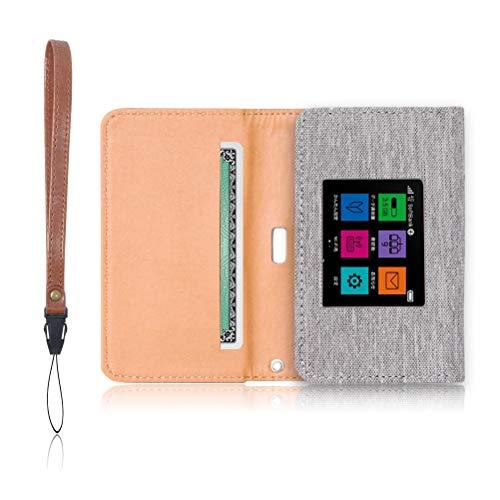 Pocket WiFi 603HW 専用 モバイルルーター ケース 保護フィルム 付 (ライトグレー)
