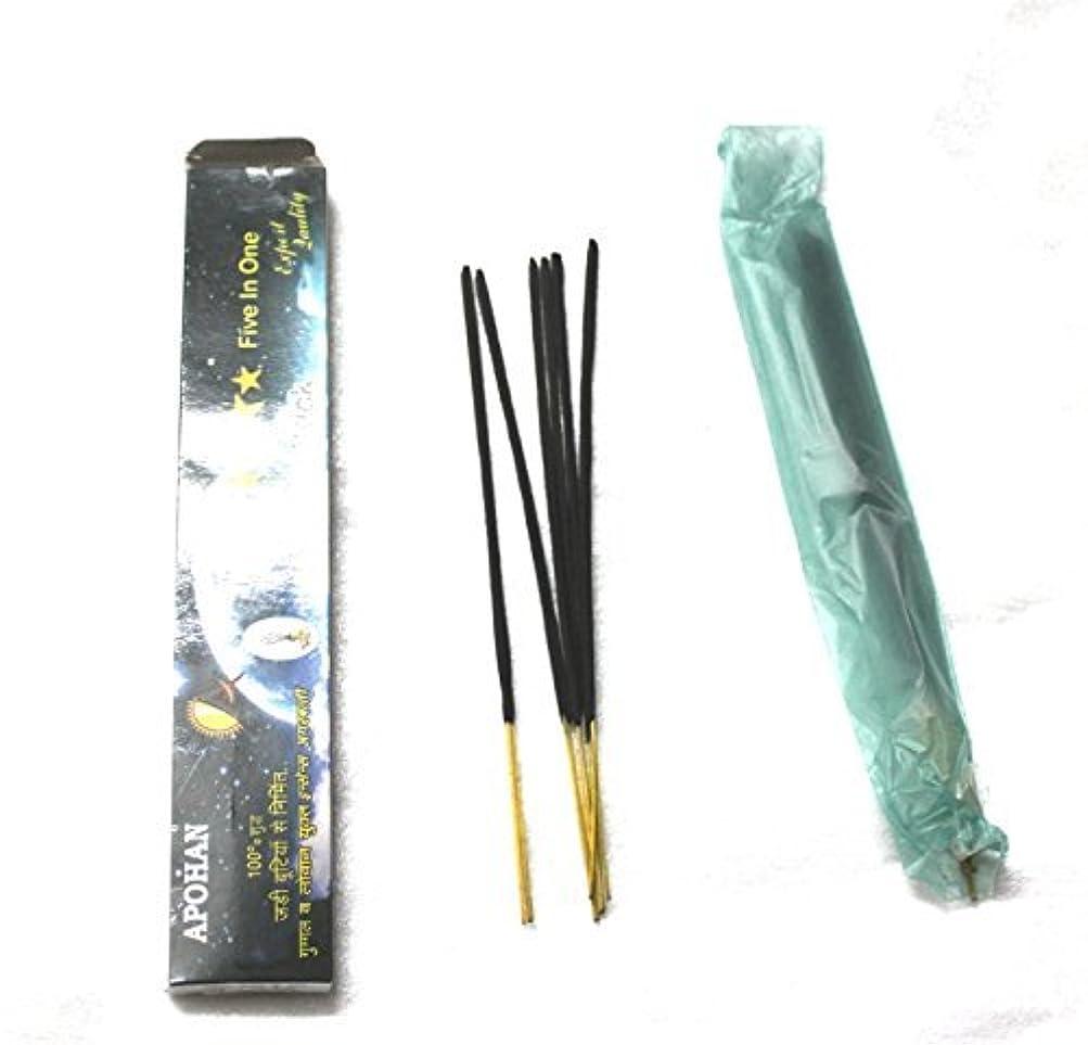バスト歯科医絞るApohan pure guggal agarbatti - Made by blind children with mango stick(50 agarbatti)