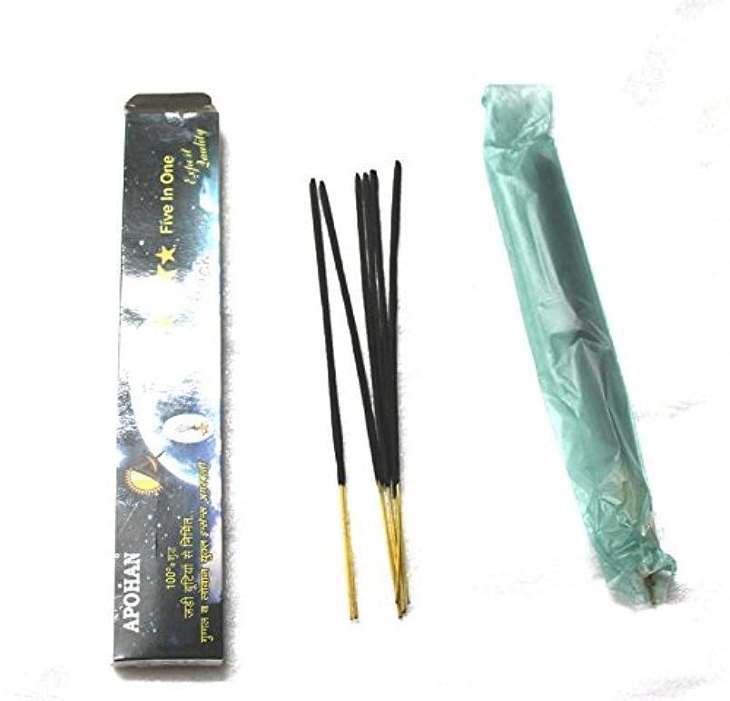 男らしい下位メジャーApohan pure guggal agarbatti - Made by blind children with mango stick(50 agarbatti)
