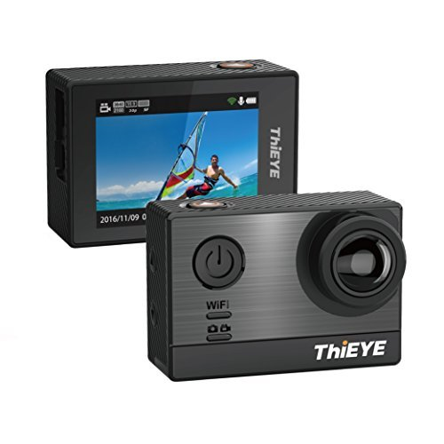 Ultra 4K Action Camera, ThiEYE T5e HD Sports Camera 60M Waterproof WIFI 16MP 2 Inch LCD 170 Degree Wide Angle With 360 Rotatable Buckle, Amberalla Chipset, Sony Sensor, Accessories Included [並行輸入品]