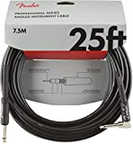 Fender シールドケーブル Professional Series Instrument Cables, Straight/Angle, 25', BlackBlack