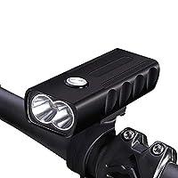 LVESHOP 自転車のUSB充電式フロントLED懐中電灯