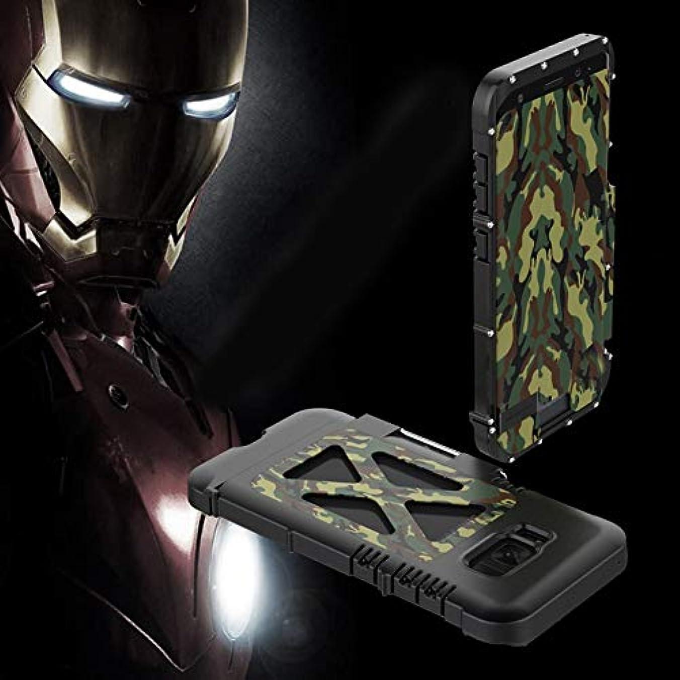 他にチョコレート国歌Tonglilili 携帯電話ケース、サムスンS5、S6、S6エッジ、S6エッジプラス、S7、S7エッジ、S8、S8、S9、S9用ブラケット落下防止クリエイティブスリーインワンメタルフリップアイアンマン保護携帯電話シェルホーンケースプラス (Color : CAMOUFLAGE, Edition : S9)