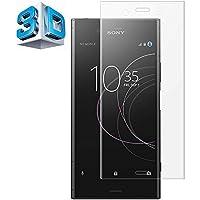 Sony Xperia XZ1 ガラスフィルム Sony エクスペリア XZ1 SCV36 SO-01K フィルム 専用 3D曲面 全面 フルカバー フィルム 液晶保護フィルム 保護フィルム 全面保護 極高透過率