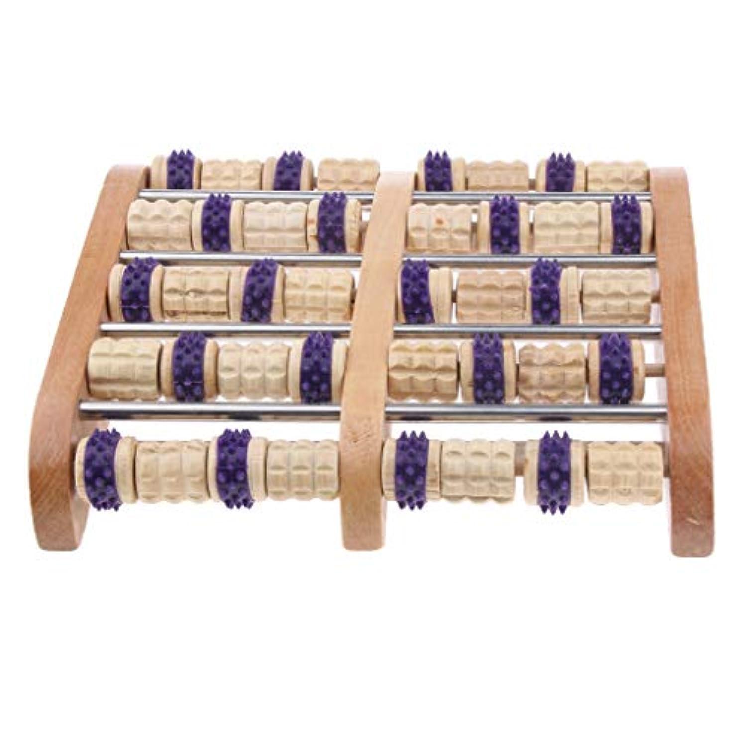 芽認証ハウジングPerfeclan フットケア マッサージローラー 木製 デュアルフットマッサージローラー