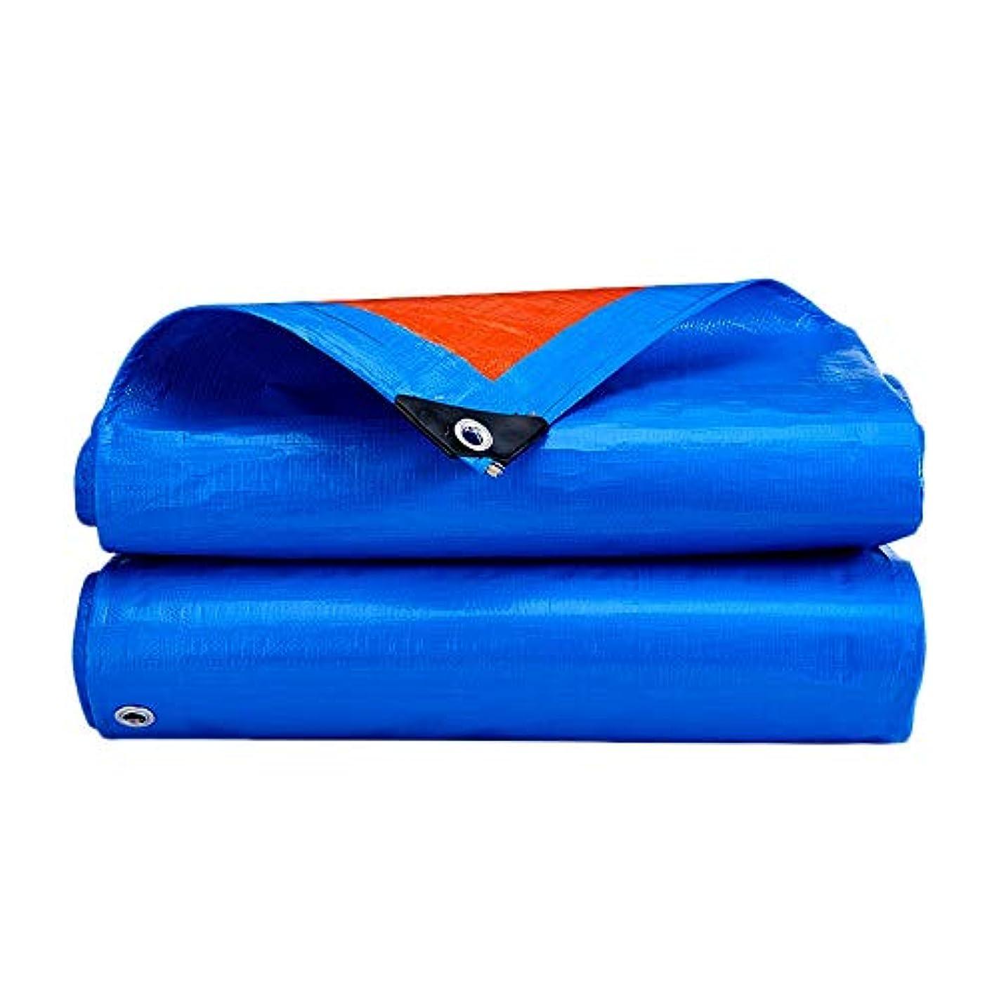 本土繕う認証QING MEI 防水シート屋外厚いプラスチックシェード布折りたたみ防水防水シートブルーカーポートヘビーデューティUV保護 (Size : 8x6m)